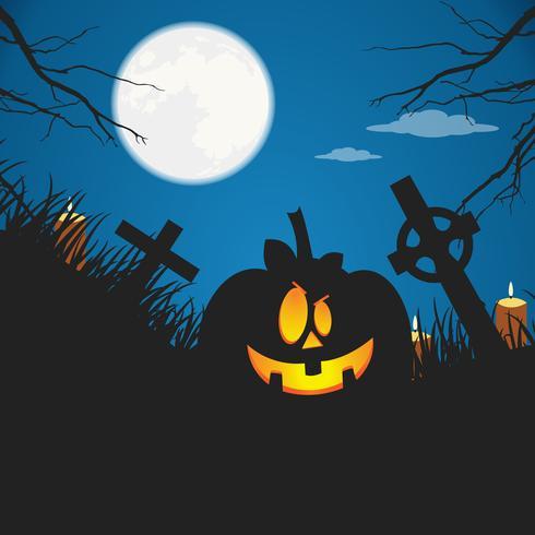 Halloween-poster. Platte vectorillustratie