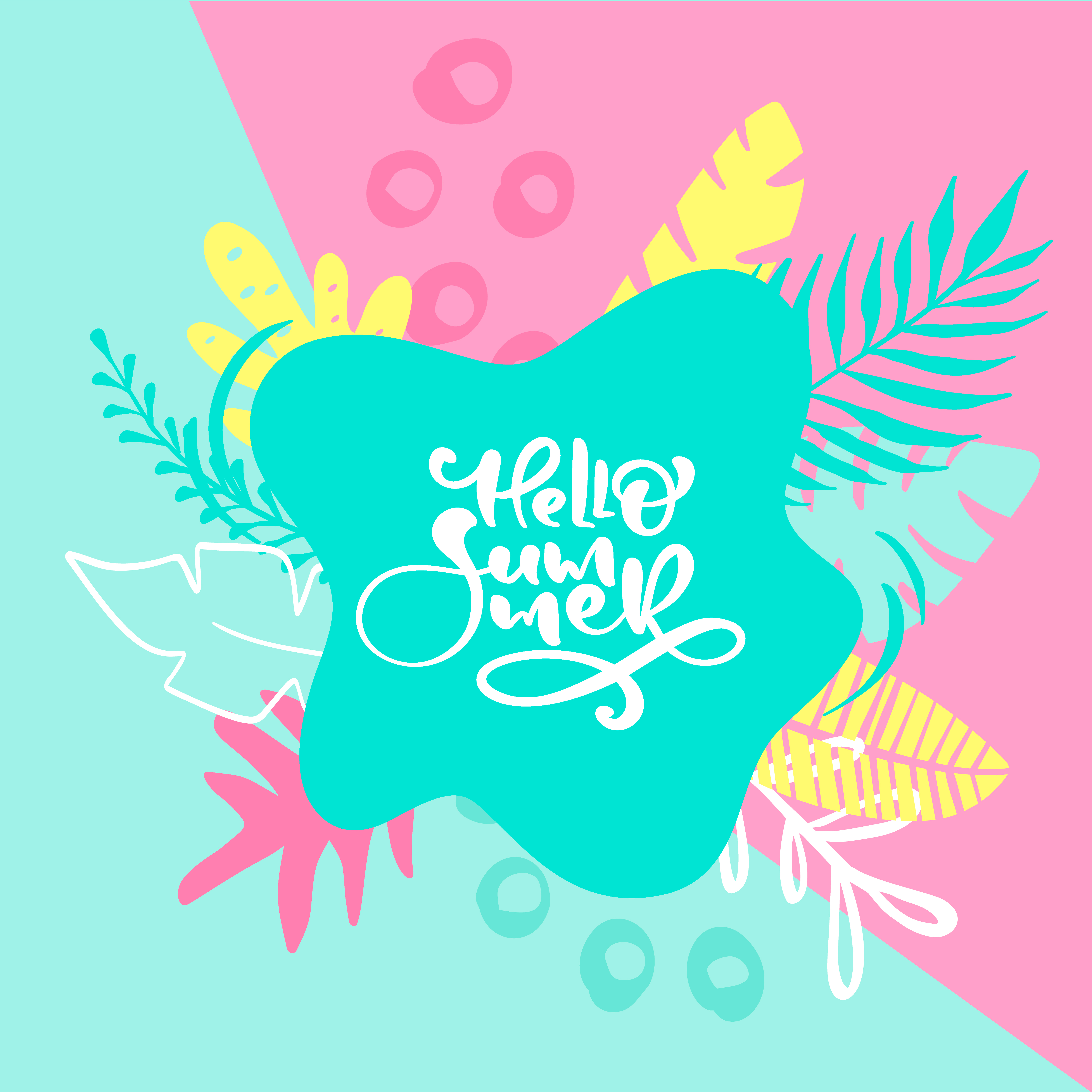 Hello Summer Calligraphy Lettering Text For Greeting Card
