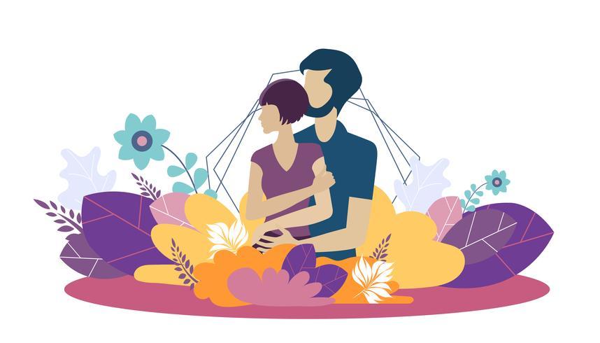 Modèle de conception de page Web pour un environnement familial croissant, sain et sûr. Notions d'illustration vectorielle moderne pour site Web et mobile.