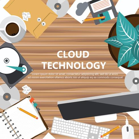 Cloud technologie concept