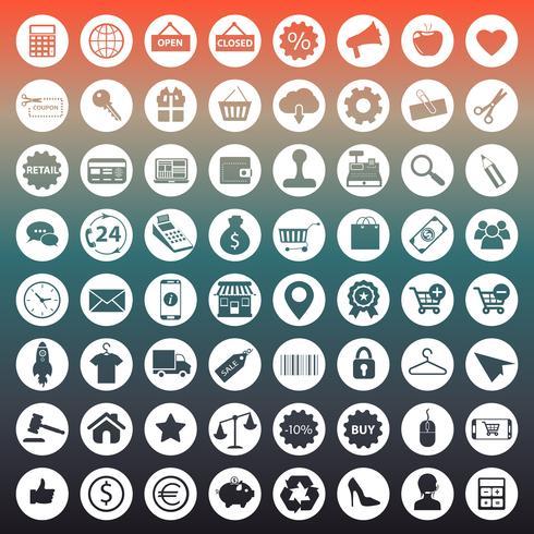 E commerce e shopping collezione di icone