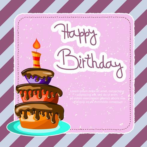Födelsedagskort med tårta