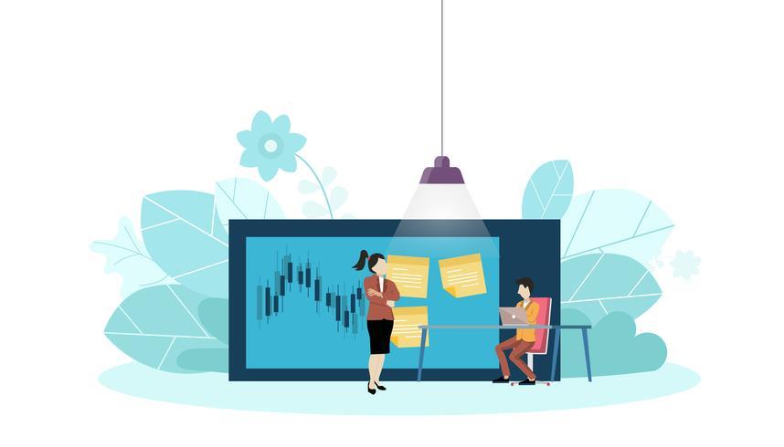 Modello di progettazione di vettore piatto di gestione delle attività, pianificazione, organizzatore, per fare la lista, bacheca
