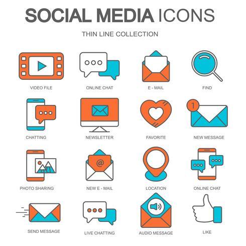 Icônes de médias sociaux pour sites Web et applications mobiles