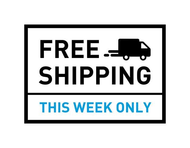 Envío gratis. Solo esta semana. Placa con el icono de camión.
