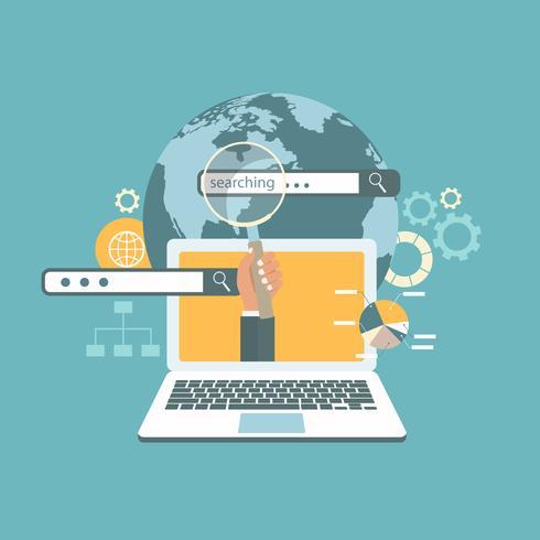 Concetto di ricerca Web Concetto di ottimizzazione del motore di ricerca