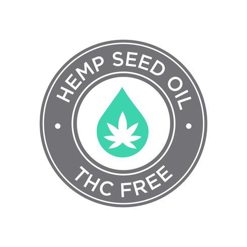 Icona di olio di semi di canapa. THC gratuito.