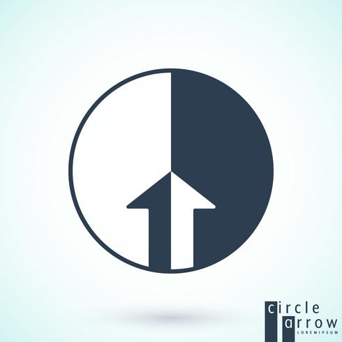Circle arrow logotype vector