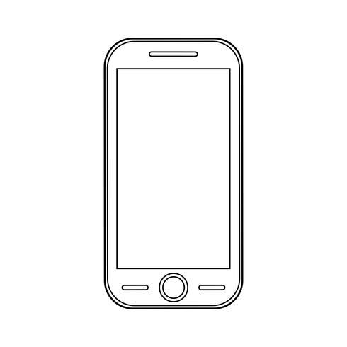 Icona di contorno di smartphone.