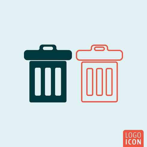 Trash basket icon vector