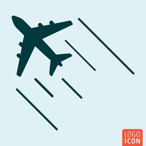 Airplane icon isolated