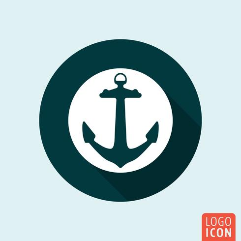 Anchor icon isolated
