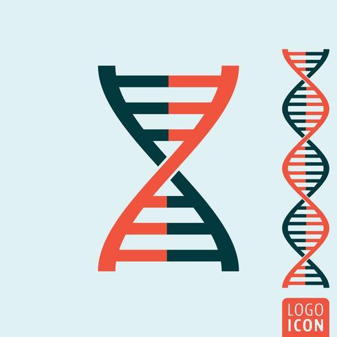 Icône d'ADN isolé vecteur
