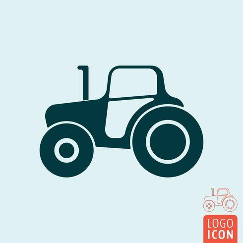 Icona del trattore isolata