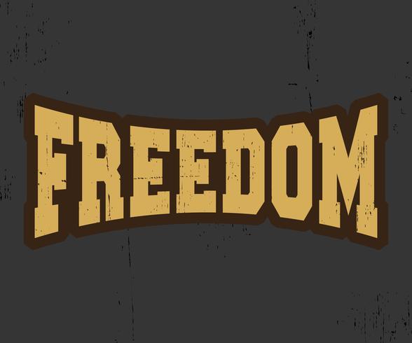 Timbre vintage de liberté