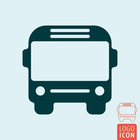 Ícone de ônibus isolado