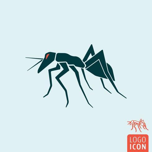Icône de fourmi isolée