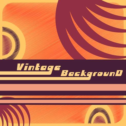 Fond vintage avec des formes abstraites. Modèle de design rétro