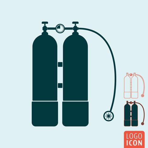 Mergulho aqualung icon