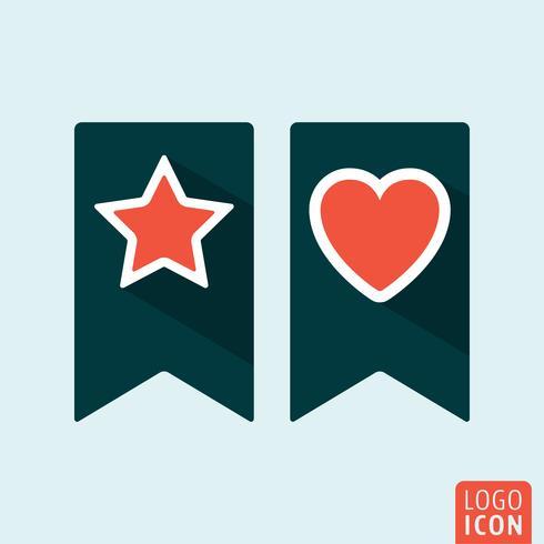 Bookmark icon set