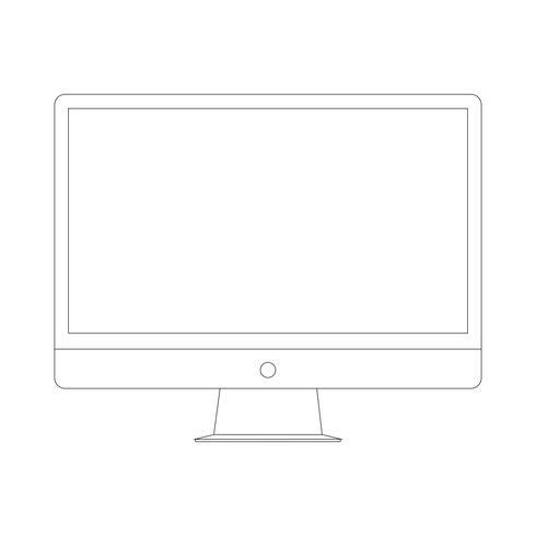 Ícone do dispositivo eletrônico. Computador.
