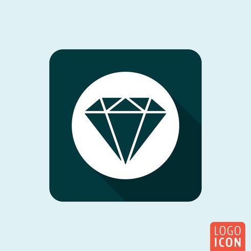 Ícone de diamante isolado