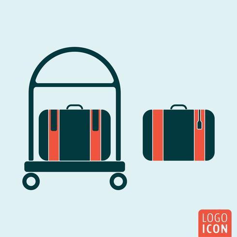 Icône de bagages isolé vecteur