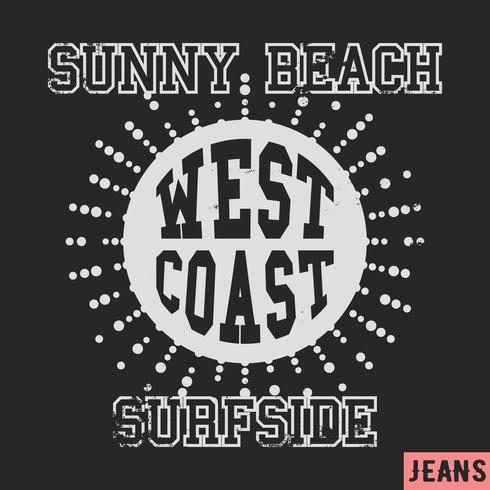 Francobollo vintage costa occidentale