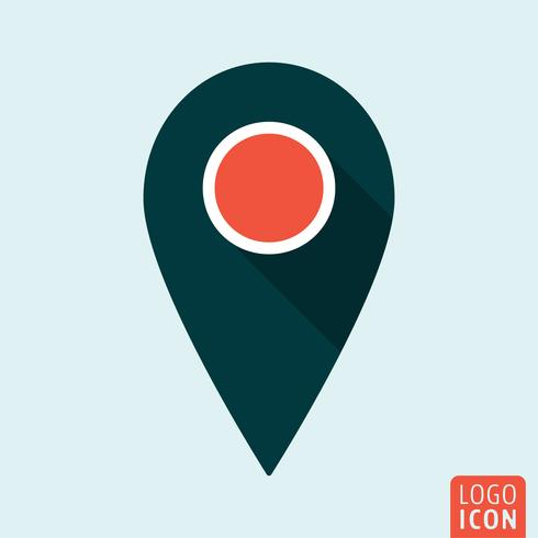 Map pointer icon isolated