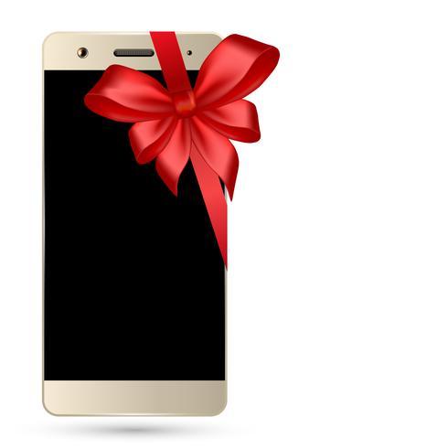Smartphone met geïsoleerde boog