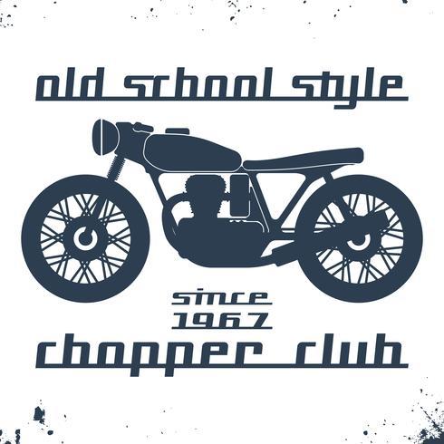Francobollo moto d'epoca