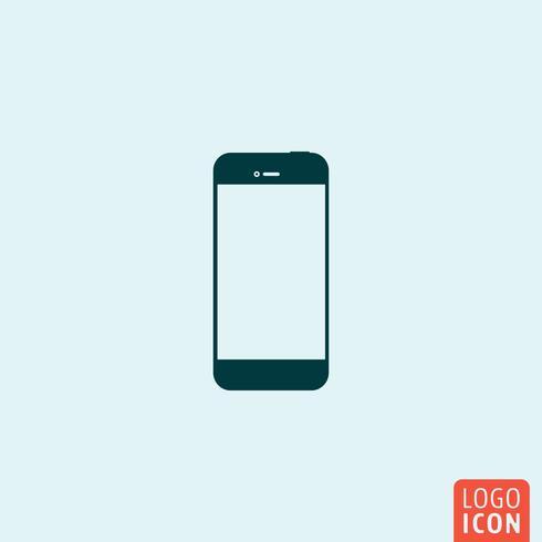Icona di smartphone. Logo smartphone Simbolo di smartphone Icona del telefono intelligente. Design minimale icona del telefono cellulare