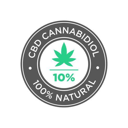 10% d'icône d'huile de cannabidiol contenant de la CBD. 100% naturel.