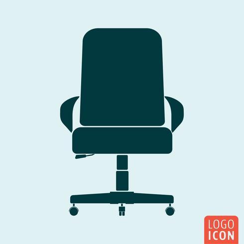 Icono de silla aislado vector