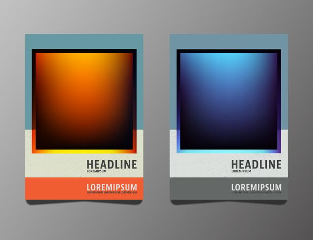 Set brochures template vector
