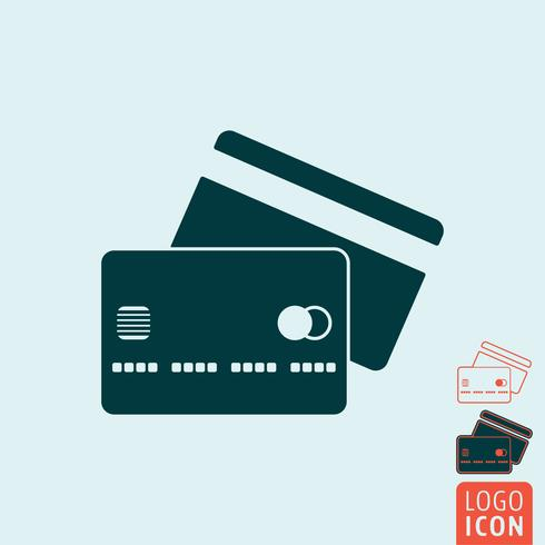 Credit card icon isolated