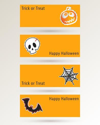 Banner del sito Web di Halloween