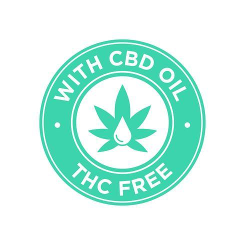Icône d'huile de CBD. Sans THC.