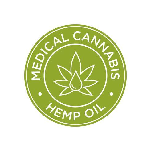 Icône d'huile de chanvre. Cannabis médical.