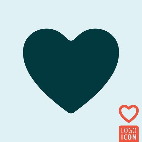 Icona del cuore isolata vettore