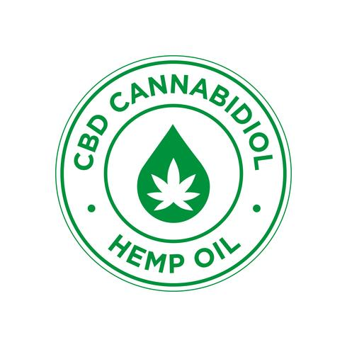 Icône de cannabidiol CBD. L'huile de chanvre.