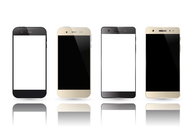 Pantalla en blanco del smartphone vector