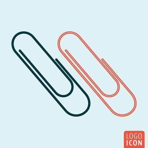 Icono de clip aislado