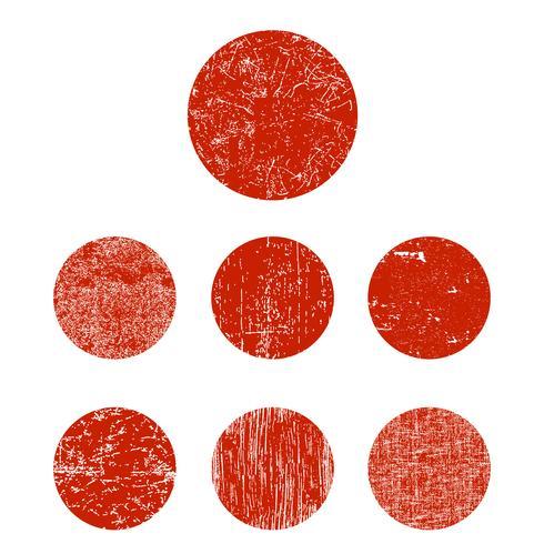 Conjunto grunge círculo