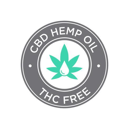 Icona dell'olio di CBD. THC gratuito.
