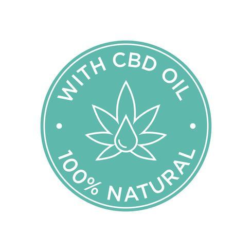 Icona dell'olio di CBD. 100% naturale.
