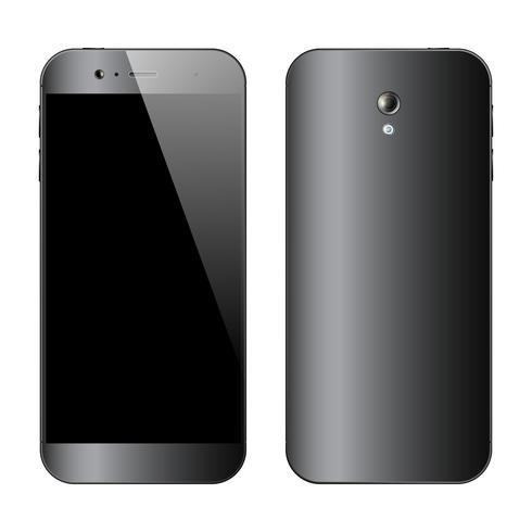 Smartphones framifrån vektor