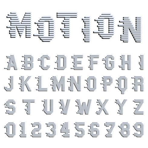 Mouvement de l'alphabet