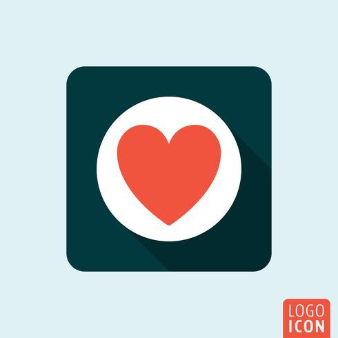 Coração, ícone, isolado