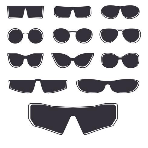Modèle de lunettes isolé